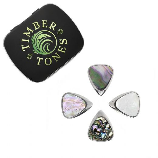 Inlay Tones Mini Mixed Tin of 4 Guitar Picks